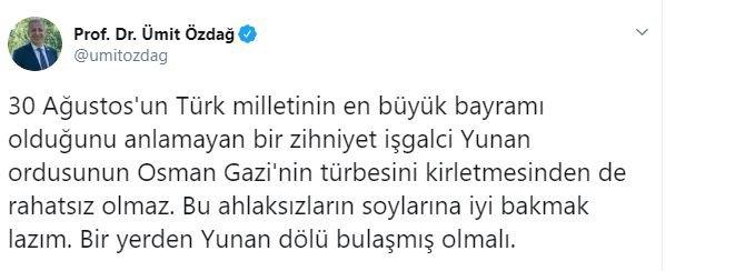 Ümit Özdağ'dan AKP'li başkana:  Bu ahlaksızların soylarına...