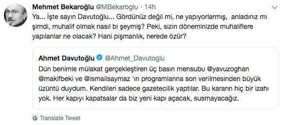 CHP'den Davutoğlu'na sert çıkış: Sizin döneminizde muhaliflere yapılanlar...