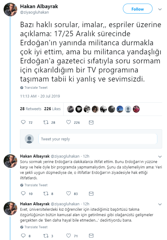 Davutoğlu'nun destekçisi Albayrak'tan 'Erdoğan' itirafı