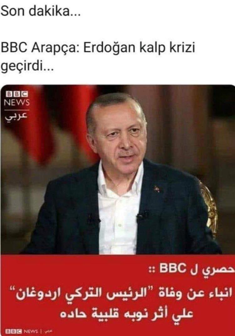 'Erdoğan öldü' dediler, ortalık karıştı