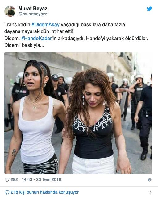 Trans kadın Didem Akay intihar etti
