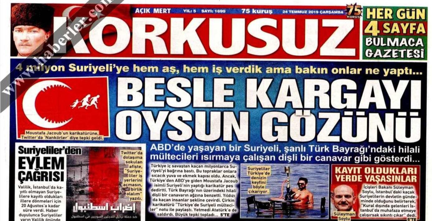 Korkusuz gazetesine yalanlama: Fotoğraftaki Türk vatandaşı...