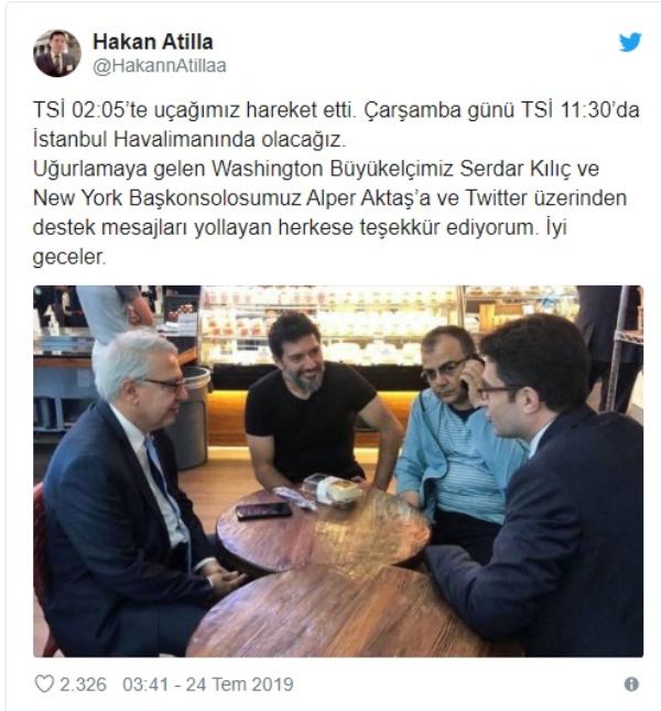 Berat Albayrak karşıladı, Erdoğan telefonla görüştü