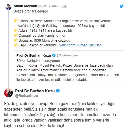 AKP'nin Kuzu'su çark etti: Lozan Türkiye'nin tapu senedidir.