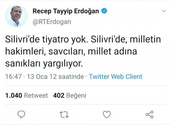 Erdoğan'dan FETÖ'nün hakim ve savcılarına övgü dolu sözler
