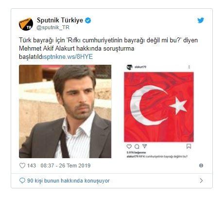 Türk bayrağına hakaret ettiği öne sürülen Alakurt'a soruşturma