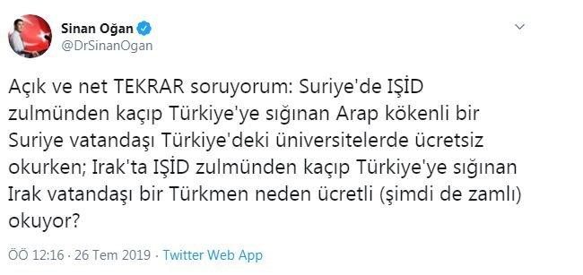 Suriyelilere ücretsiz, Türkmenlere ücretli