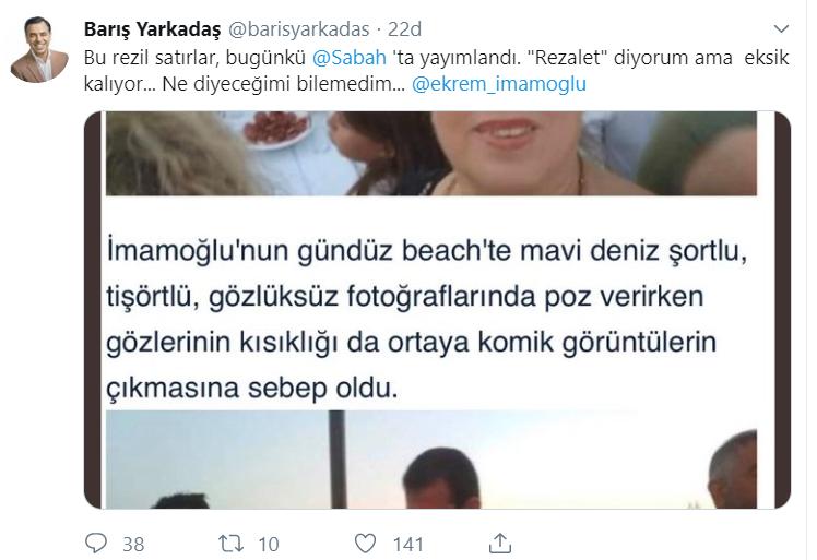 Yandaş Sabah'ın habercilik anlayışı: İmamoğlu'nun tatiline taktılar