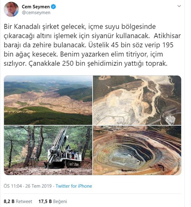 200 bin ağaç katlettiler, şimdi de zehire boğacaklar: Diren Kazdağları!