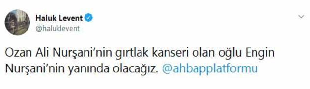 Nurşani'ye Haluk Levent'ten destek sözü
