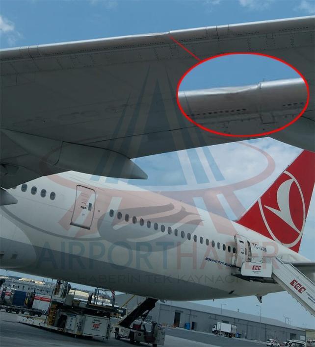 Uçak kuş sürüsüne çarpınca seferden çekildi