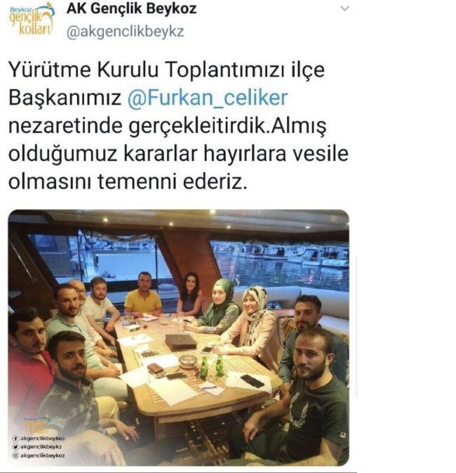 AKP Gençlik Kolları yat sefasında!