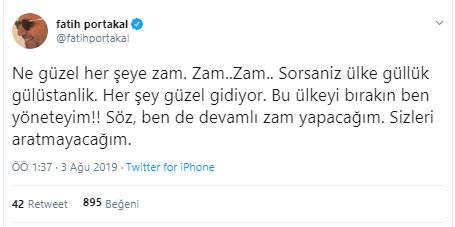 Fatih Portakal: Bırakın bu ülkeyi ben yöneteyim