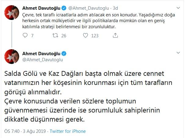 Ahmet Davutoğlu'ndan flaş açıklama