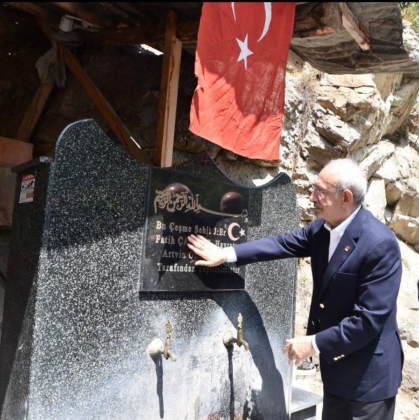 Kılıçdaroğlu'nun Şavşat ziyaretinden kareler