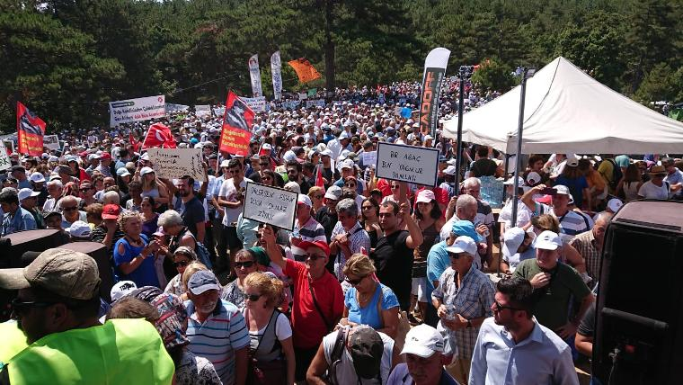 Kaz Dağları'nda nöbet vakti: Binlerce kişi akın etti