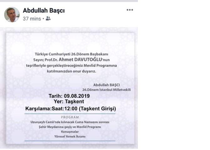 AKP'li isimden dikkat çeken Davutoğlu paylaşımı