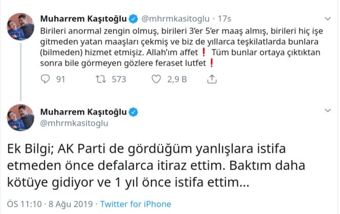 Eski AKP'li isimden 'çift maaş' yorumu: Baktım kötüye gidiyor...
