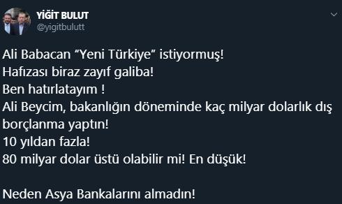 Saray'dan Babacan'a düello daveti!