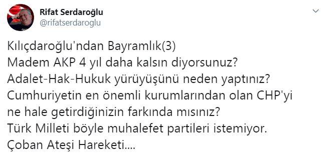 Kılıçdaroğlu'na 'erken seçim' yanıtı