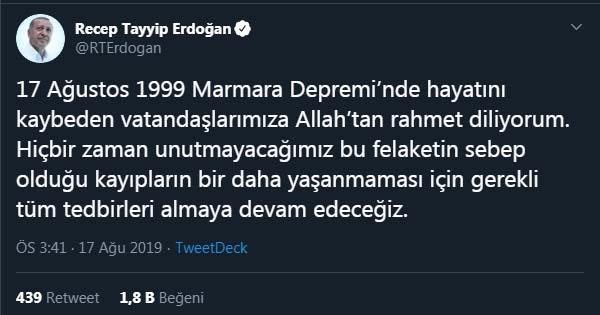 Erdoğan andı ama deprem hala en büyük gerçeğimiz