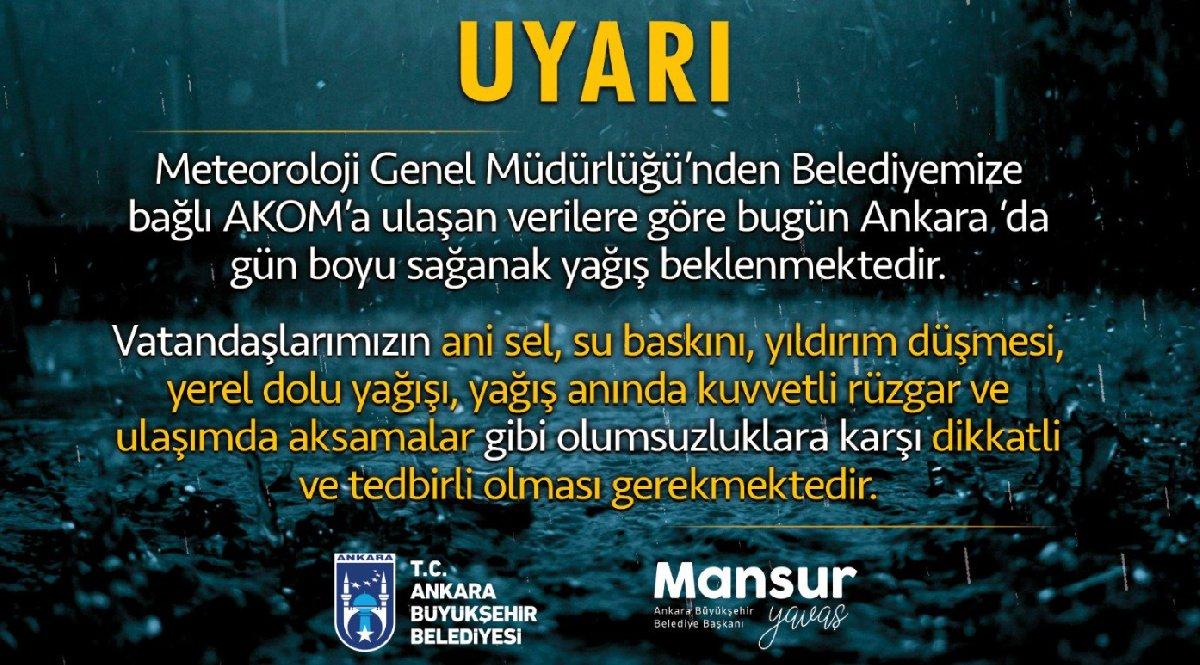 İstanbul'un ardından Ankara da alarma geçti
