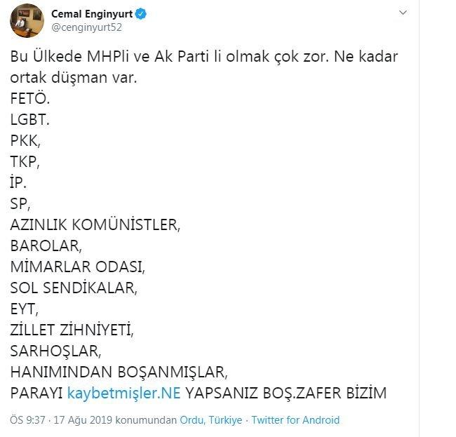 MHP'li vekil ilan etti: Boşananlar ve EYT'liler düşmanımız