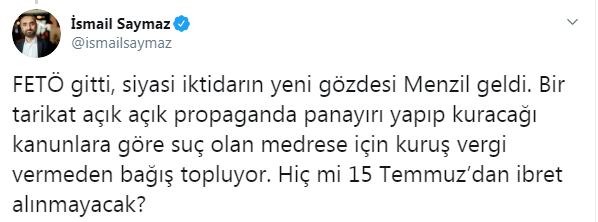 AKP'li belediye Menzil tarikatına panayır alanı tahsis etti