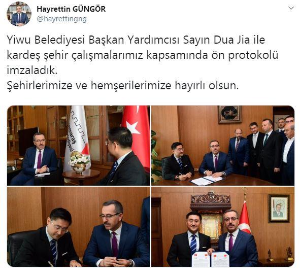 AKP'li belediyenin Çin protokolüne tepki