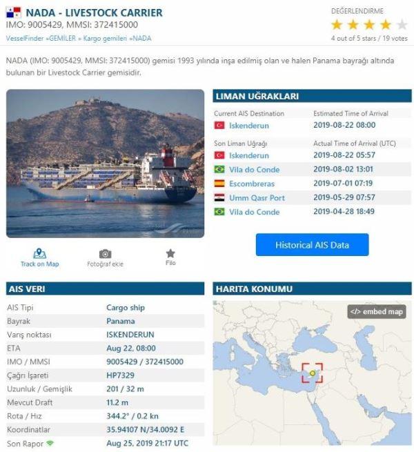'Ölüm gemisi' yeniden Türkiye'de