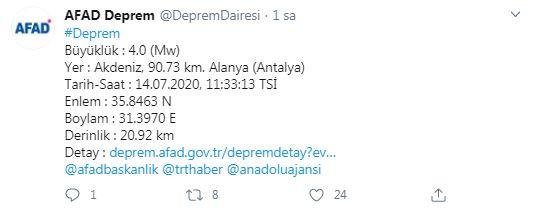 Antalya Sallandı: AFAD açıklama yaptı