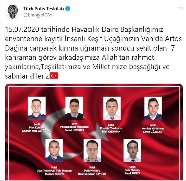 7 baba ocağına ateş düştü: Şehit olan polislerin kimlikleri açıklandı