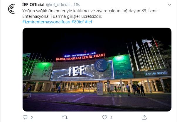 İzmir Enternasyonal Fuarı'na girişler ücretsiz