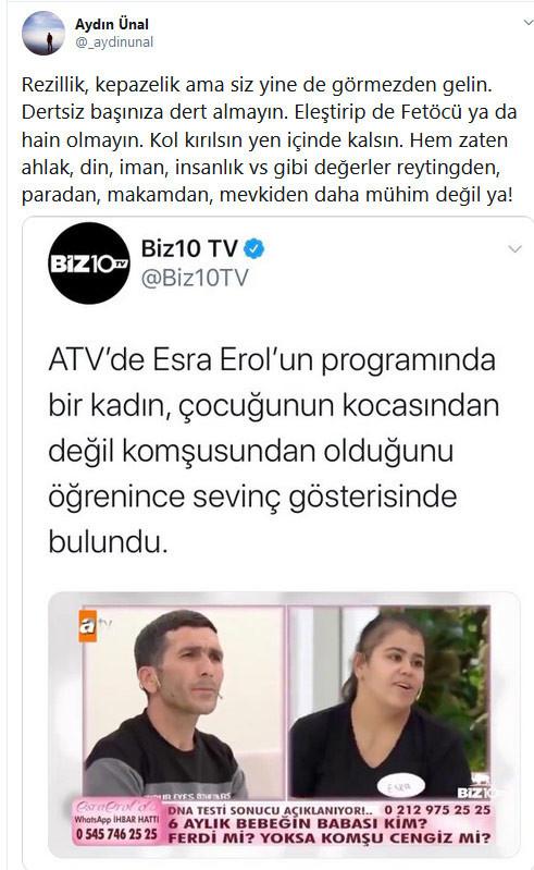 Erdoğan'ın eski metin yazarı ATV'yi topa tuttu